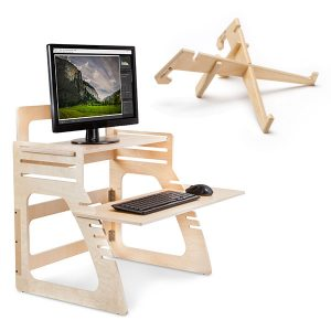 Wood Desks and Stands