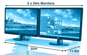 Dual Monitor Dimensions